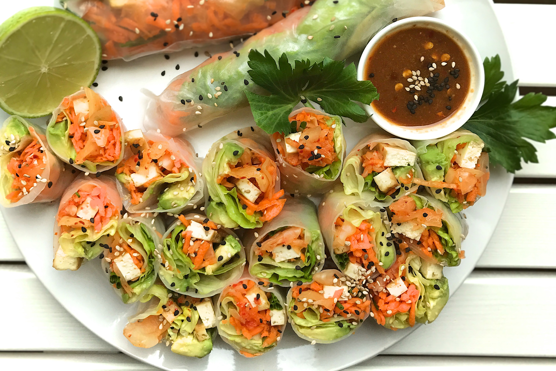 Kimchi Summer Rice Rolls - Kimdeon.com